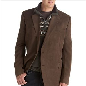 Andrew Fezza Brown Microsuede Executive Sport Coat